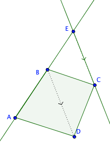quadrilateral to triangle