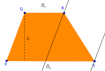 deriving the area of trapezium