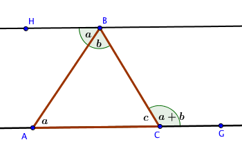 Proof of triangle exterior angle theorem k 12 math problems for Exterior angle theorem