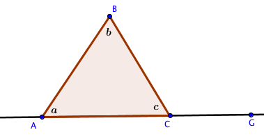 Proof of triangle exterior angle theorem k 12 math problems for Exterior of an angle definition