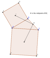 Squares, Triangles, and Van-Aubel's Theorem